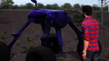 Dick robot es un robot para la agricultura que utiliza electricidad para matar las malas hierbas